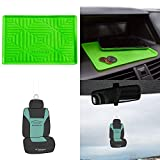 FH Group FH3011 Anti-slip Silicone Dash Mat Smartphone Iphone, Iphone Plus, Galaxy, Galaxy Note Coin Grip w. Free Air Freshener, Green Color