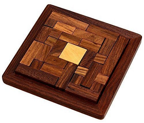 UnitedPrime Wooden Tetris Puzzle Brain Teasers Toy for Kids, Wood Puzzle Brain Games Tangram Jigsaw Toy Children by UnitedPrime