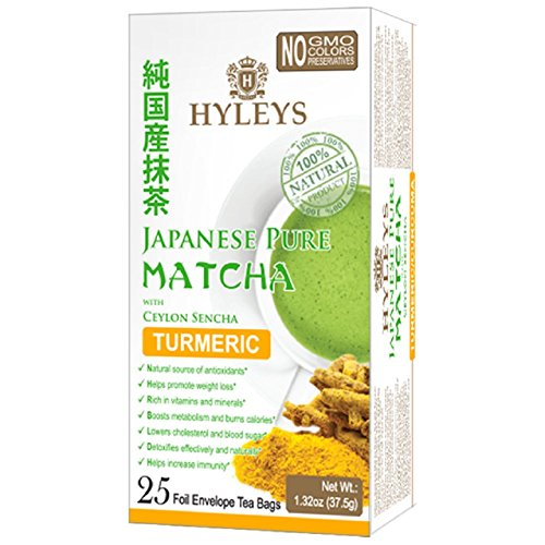 Hyleys Japanese Pure Matcha Tea with Ceylon Sencha, Turmeric Flavor 25 - Outlet Arizona Mall In