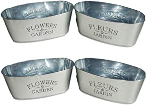 4 Pack - Oval Galvanized
