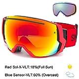 Smith Optics I/O 7 Adult Interchangable Series Snocross Snowmobile Goggles Eyewear - Fire/Red Sol X Mirror / Medium