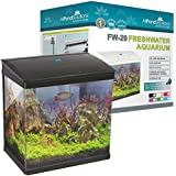 All Pond Solutions Nano Fish Tank Aquarium LED Lights, Small, 29 Litre, Black