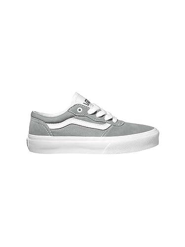 ef7a045a0a VANS Milton Suede Mid Grey White Skate Shoe