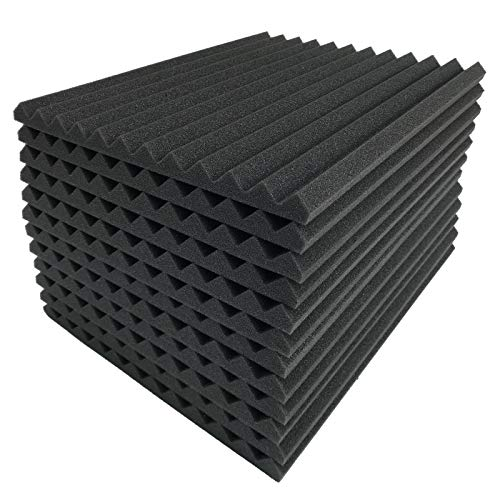 (Teraves Acoustic Foam Panels -96 Pack Soundproofing Studio Foam Wedges Padding Wall Tiles 1