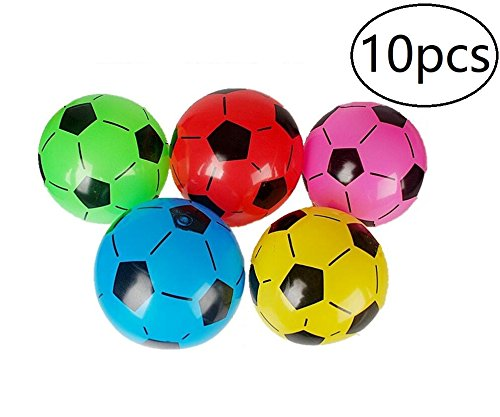 Inflatable Soccer Balls Sports Birthday Parties Inflatable Favors Decor,10pcs,Assorted]()