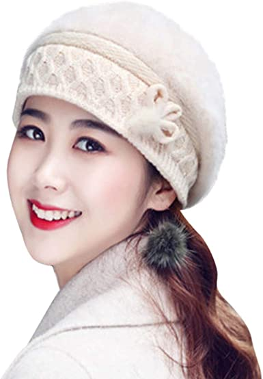 Elegant Warmth Colorful Women Hats Handmade Warm Caps Female Headgear Pandaie-Womens Hats