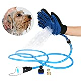 Elough Pet Bathing Tool Pet Bath Sprayer for Dog and Cat Bathing Massage Combo with Pet Grooming Glove and 3 Faucet Adapters Pet Shower