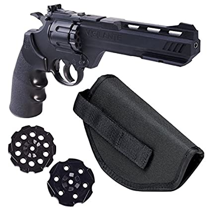 Crosman Vigilante 357 Co2 Air Pistol Kit with Holster and 3-Pack of  Magazines