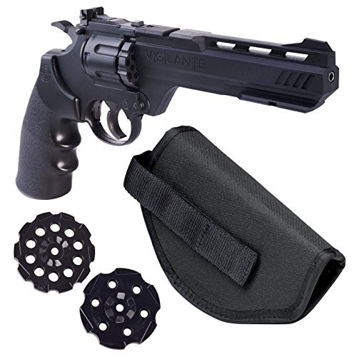 Crosman Vigilante 357 Co2 Air Pistol Kit with Holster and 3-Pack of (Co2 Powered Pellet Gun)