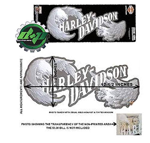Diesel Power Plus Chroma Graphics Harley-Davidson Text with Eagles Rear Window Stick On Decal