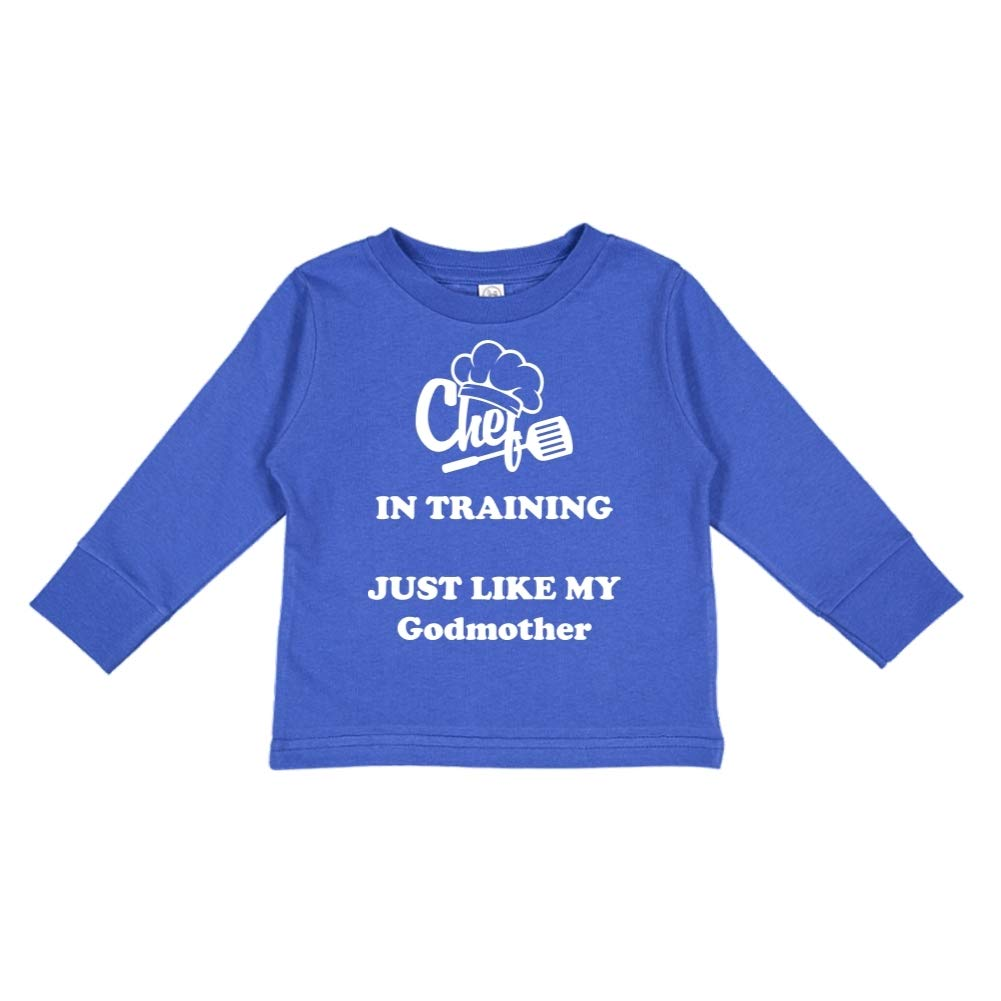 Chef in Training Just Like My Godmother Toddler//Kids Long Sleeve T-Shirt
