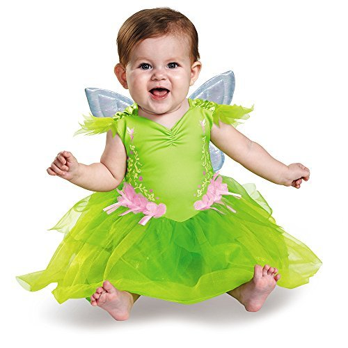 Tinker Bell Deluxe Costumes - Disguise Baby Girls' Tinker Bell Deluxe Infant Costume, Green, 12-18 Months
