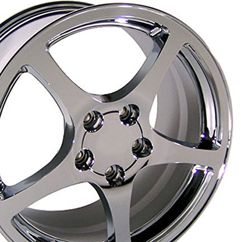 OE Wheels 17 Inch Fits Chevy Camaro Corvette Pontiac Firebird C5 Style CV05 Chrome 17x8.5 Rim Hollander 5122