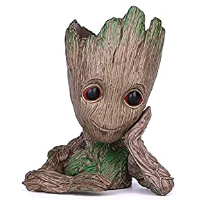 Ayogu Groot Action Figures Guardians of The Galaxy Flowerpot Baby Cute Model Toy Pen Pot Best Gifts 6.3in