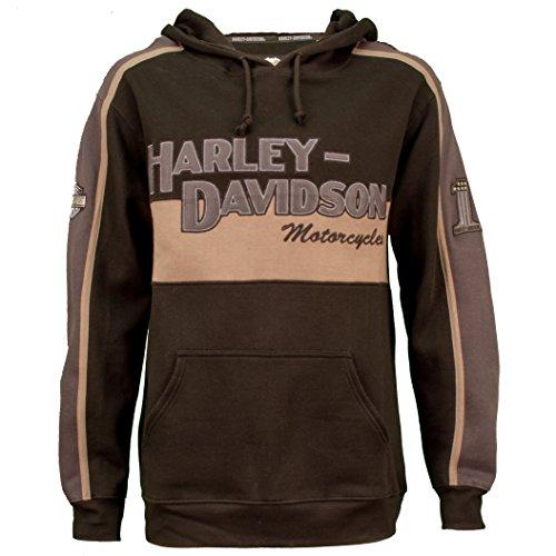 (Harley-Davidson Men's Prestige Black & Grey Pullover Hoodie 99128-10VM (Small))