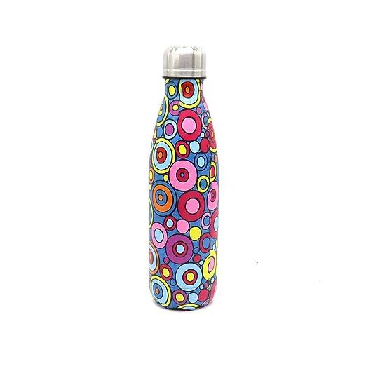 LOHOX Botella de Agua 500ml/750ml/1L Acero Inoxidable 18/8 ...