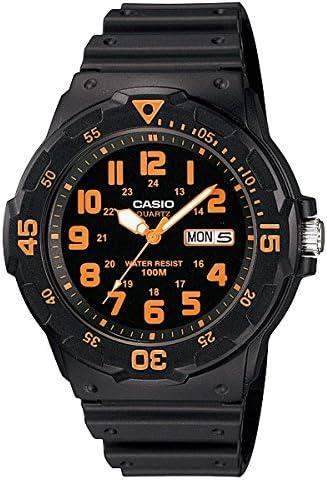 [カシオ]CASIO BASIC ベーシック MRW-200H-4B ブラック×オレンジ メンズ 腕時計[逆輸入モデル]