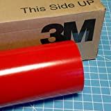 24'' x 100 Ft Roll of Dark Red 3M Scotchcal Series 50 Vinyl for Craft Cutters and Vinyl Sign Cutters