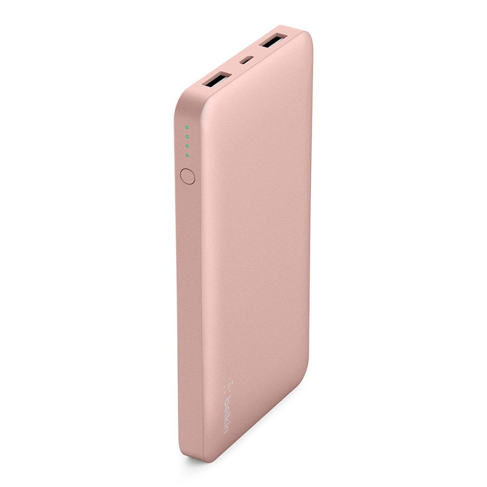 Belkin Pocket Power 10,000mAh Durable Ultra Slim Portable Charger / Power Bank / Battery Pack (Pink) by Belkin