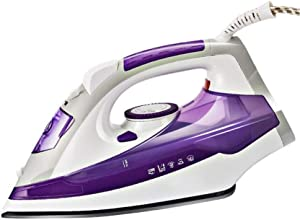 LLVV Irons Steamer for Clothes- Household Hand-Held 3-Speed Thermostat Ceramic Base Plate Steam Iron Professional Steam Iron for 2400W Perfect for Home and Travel,Purple