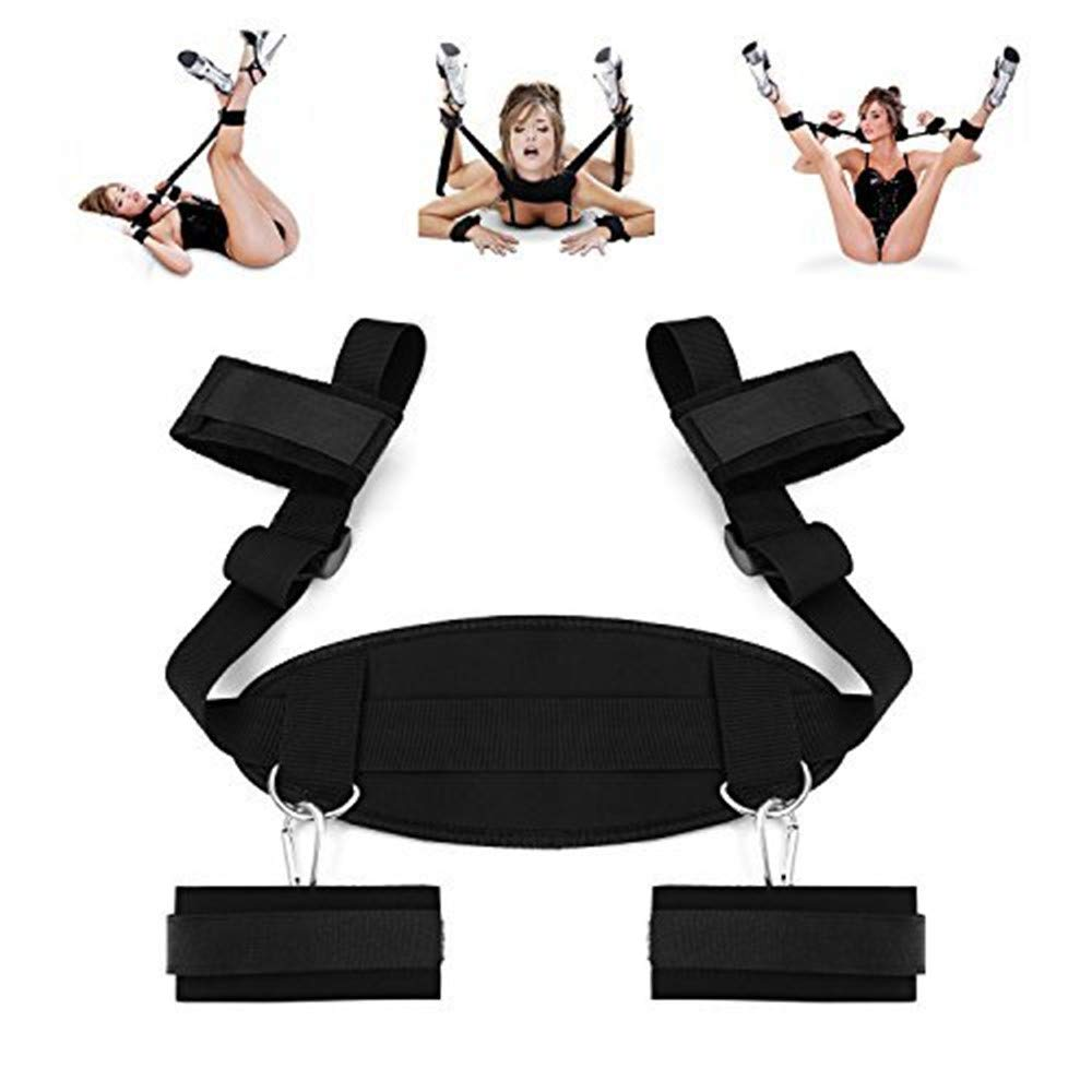 Beautychen Cosplay Adult Hand & Ankle Cuffs Strap Kit Bed Restraints Couple Flirt Toy for Party Game Restraint System Kit Medical Grade Adjustable Soft Wrist Set-90602