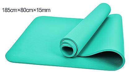 Amazon.com : Yoga mat Tasteless Beginner 15MM Longer Anti ...
