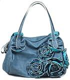 Kate Rose Pedal Shoulder Bag/ Handbag/ Satchel Bag, Blue, Bags Central