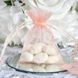 Efavormart 10PCS Blush Organza Gift Bag Drawstring Pouch Wedding Favors Bridal Shower Treat Jewelry Bags - 3''x4''