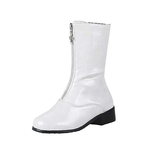 Botines Martin Zapatos De Cremallera OHQ Mujeres Ocio Plataforma TacóN Grueso Antideslizante Punta Redonda Martin Boots: Amazon.es: Zapatos y complementos