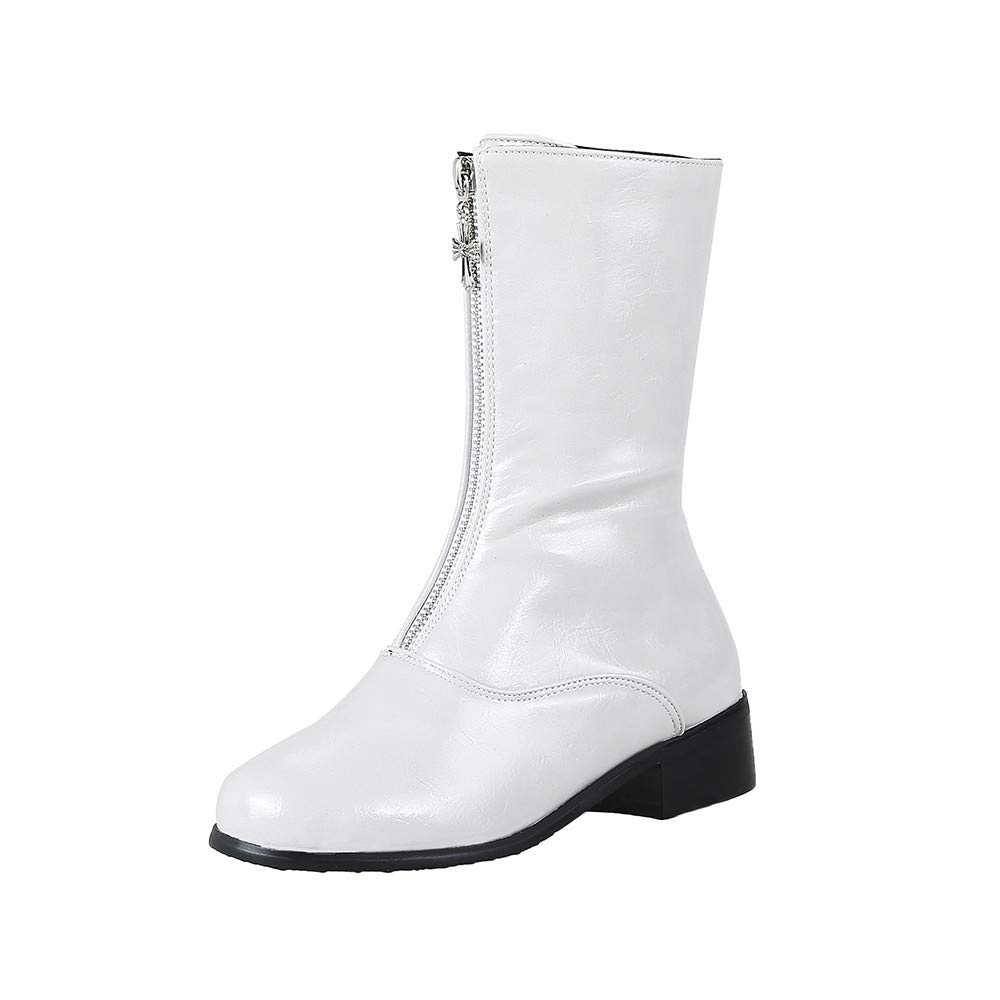 Clearance for Shoes,AIMTOPPY Women's Casual Zipper Solid Color Low Help Short Martin Boots