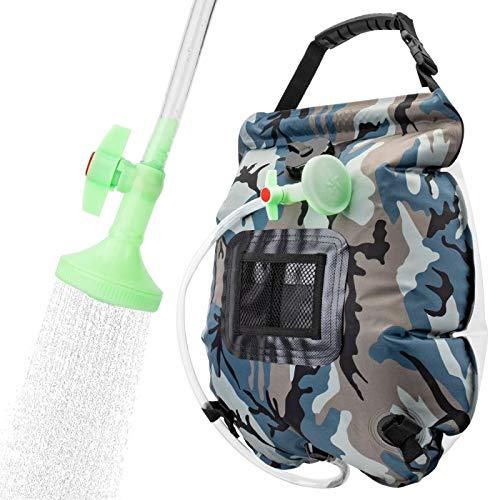 VIGLT Portable Shower Bag for Camping 5 gallons/20L Solar Shower Bag for Outdoor Traveling Hiking Summer Shower