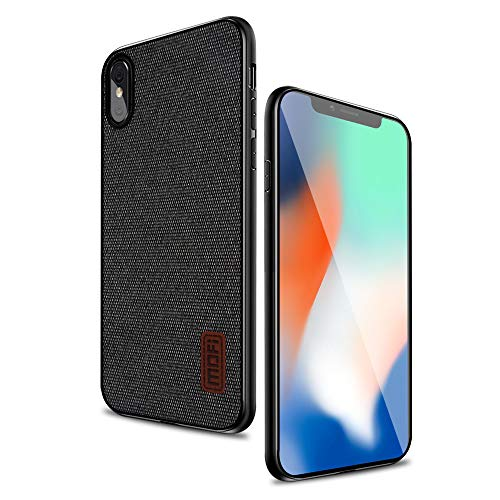 iPhone X Cases Covers with Art Cloth & Soft TPU Edge and Full-Edge Protection Shock- Absorbing and with Great Grip Fully Compatibale for iPhoneX(Black)