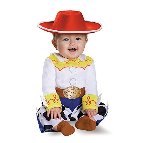 Disguise Baby Girls' Jessie Deluxe Infant Costume, Multi, 12-18 (Jessie Toy Story Costume Kids)