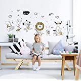 Cartoon Monkey Rabbit sheep Animal Wall Stickers Kids Room Decoration Wallpaper Baby Bedroom Wall Decals For girls boys