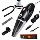 Explon Car Vacuum Cleaner - Handheld Portable, Corded Vacuum Cleaner, Powered by DC 12V Outlet of Car, Powerful High Power Wet and Dry Suction, 16ft Power Cord, 1 Extra Stainless Steel HEPA Filter