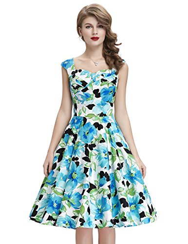 Style Vintage Dresses Sweetheart Multi Colored