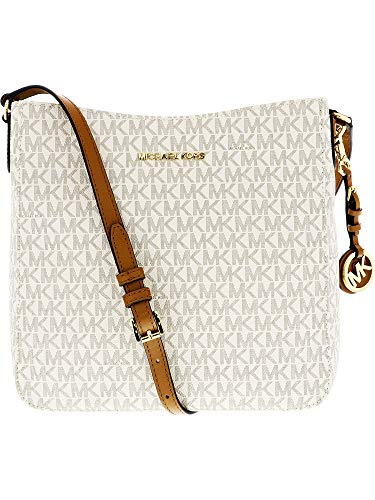 d43cddef7722 MICHAEL MICHAEL KORS Jet Set Travel Large Logo Messenger, Vanilla