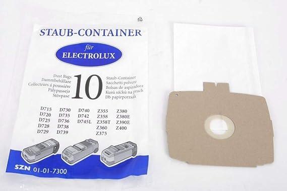 10 bolsas para aspiradora Electrolux D715- D740, Z355 - Z400: Amazon.es: Hogar