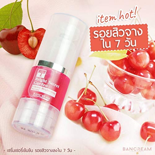 BANCREAM Bright Secret Garden : Cherry Brightening Serum 20 ml. Skin Serum, Acne treatment serum, Anti-melasma serum