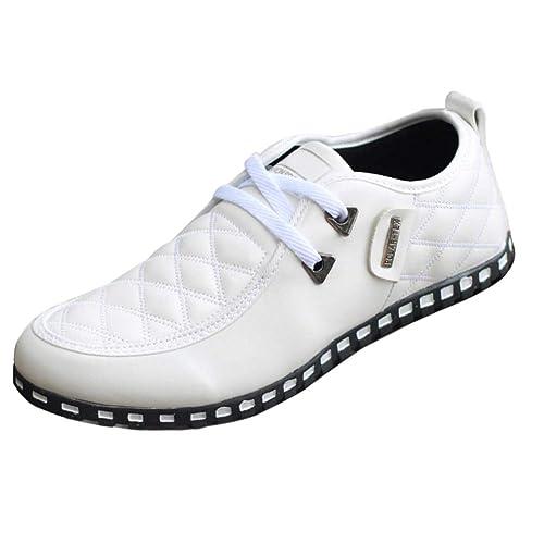 Tenthree Planos Zapatos Mocasines Hombre - Hombres Cuero Cordones Zapatilla Oxford Derby Negocios Business Botas Calzado Oficina Smart Trabajo Informal ...