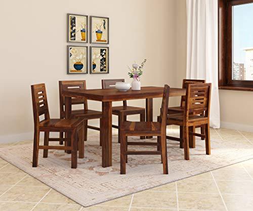 Induscraft Sheesham Wood Gossip Gang 6 Seater Dining Set