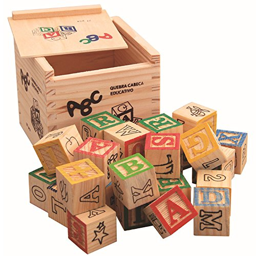 sarcha Wood alphabet blocks for kids ABC/123 wooden cube fig