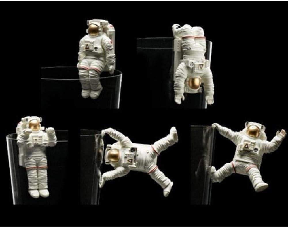 LOSAYM Escultura Figuritas Decorativas Estatuas Escultura Decoración Estatuas Figuritas Creativo Cápsula Juguetes Cosmonauta Decoración Astronauta Taza Estatua Astronauta Artes Escultura Resina Art