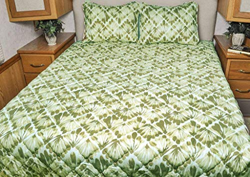 AB Lifestyles RV Bedspreads in King from Our Key West Collection (King 72x75, Palm Green)