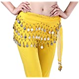 Urparcel Lady's Fashion Chiffon Belly Dance Waist Chain with Golden Coins