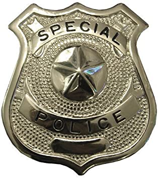Silver Smiffys Metal Police Badge Unisex