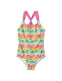 Girls 4-12 Emoji One-Piece Swimsuit