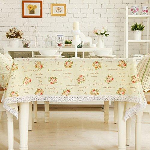 Tischdecke Tischdecke Stoff Europäische Stil Ländliche Kaffeetisch Moderne minimalistische Linie Spitze Tischdecke Englisch Rosa ( größe   9090cm ) B0743CM2NX Tischdecken Qualität und Quantität garantiert     | Spielzeugwelt, spielen