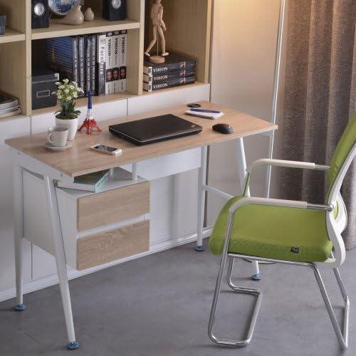 Hjh OFFICE 673998 Escritorio EASY FLOW II roble blanco mesa de ...