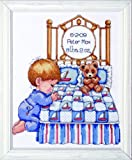 Tobin T21710 14 Count Bedtime Prayer Boy Birth Record Counted Cross Stitch Kit, 11 by 14-Inch
